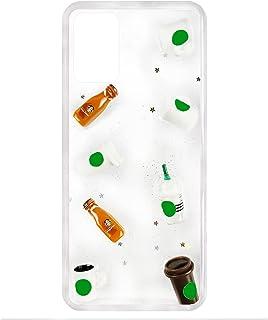 جراب خلفي اكواب وزجاجات بارزة ، طبقتين ضد الصدمات، إطار من السيليكون، لهاتف اوبو A54