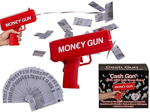 Bada Bing Geld Pistole mit 100€ Spielgeld Scheinen Cash Gun Scherzartikel 42