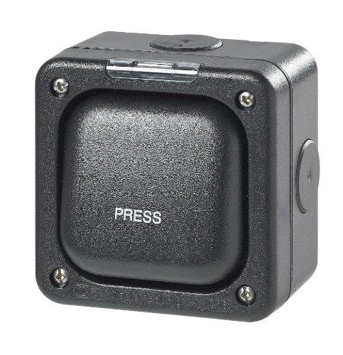 MK Masterseal Plus K56408BLK - Interruttore singolo'PRESS' normalmente aperto o normalmente chiuso 10 amp a due poli e due vie
