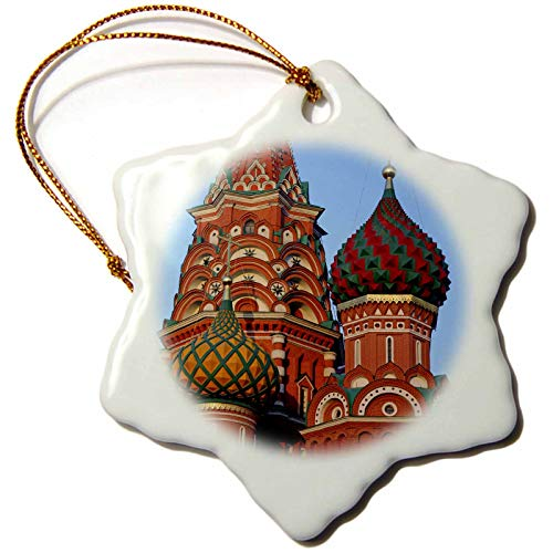 3dRose Russia, Moscow. St Basils Cathedral in Red Square - EU26 KWI0025. - Ornaments (ORN_138750_1)