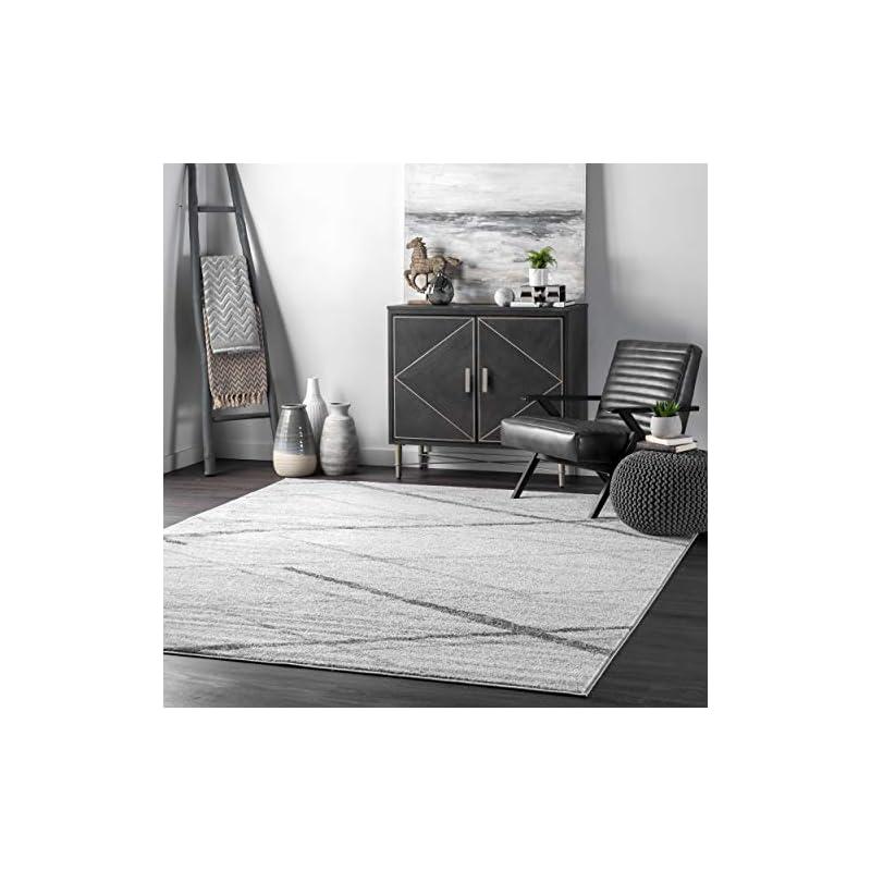 "silk flower arrangements nuloom thigpen contemporary area rug, 8' 2"" x 11' 6"", grey"