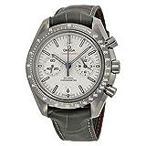 Omega Speedmaster 31193445199001 - Reloj automático con cronógrafo de color gris con esfera de platino y correa de piel gris
