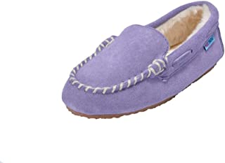 MOC PAPA Girls Boys Classic Suede Leather Moccasin Slipper