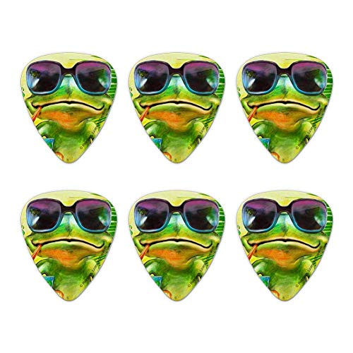 Plektren Gitarren Plektren,Summertime Vacation Frog Neuheit Guitar Picks Medium Gauge - 6 Stück