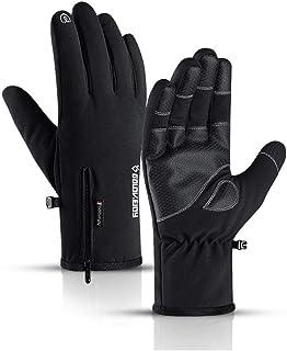 Winter Waterproof Gloves Windproof Anti Slip Zipper Gloves Men Women Riding Skiing Warm Fluff Comfortable Gloves Thickening Men's Gloves