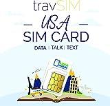 travSIM - Tarjeta SIM de USA (Tarjeta SIM de Lycamobile) Válida por 30 Días - Datos Móviles de 2GB 3G 4G LTE - Estados Unidos Tarjeta SIM Lycamobile de US (Llamadas Locales e Internacionales)