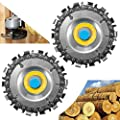 ETBUT Disc Plunge Wood Cut Wheel 2pcs, Circular Saw Blade Cutter Tool, Cordless Saw Blades Cutter for 100/115 Angle Grinder, Chain 14 Teeth Fine Cutting Set Carbide Chop Saws for Wood (Yellow)