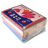おはながみ 京花紙 5色各500枚入りセット(赤、紅桃、黄、水色、白)