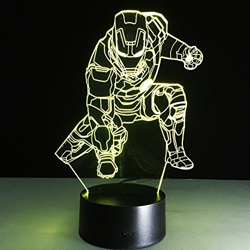 Tischlampe Phantom nachtlicht transparent acryl Lampe Spielzeug Geschenk für Kinder tropfboot