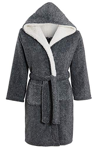 Luxurious Kids Grey Dressing Gown
