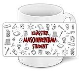 Tasse für-Studenten mit Motiv - Klügster Maschinenbau-Student - | Studenten-Geschenk |...