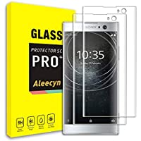 [2 Unidades] Protector de Pantalla para Sony Xperia XA2, 3D Curva Edge Completa Vidrio Templado Pantalla para ,9H Dureza [ Cobertura completa ]Transparente (Sony Xperia XA2)