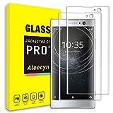 [2 pezzi] pellicola vetro temperato sony xperia xa2 ,cover completa 3d ,pellicola protettiva in vetro temperato 9h durezza,0,33mm hd alta trasparente.trasparente (sony xperia xa2)