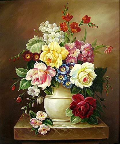 DKISEE - Puzzle con fiori in vaso bianco, 500 pezzi, regalo creativo, giochi educativi classici per adulti e famiglie