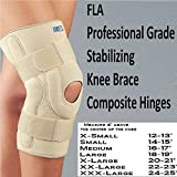 FLA 37-107MDBEG Neoprene Stabilizing Knee Brace With Composite Hinges, Beige, Medium