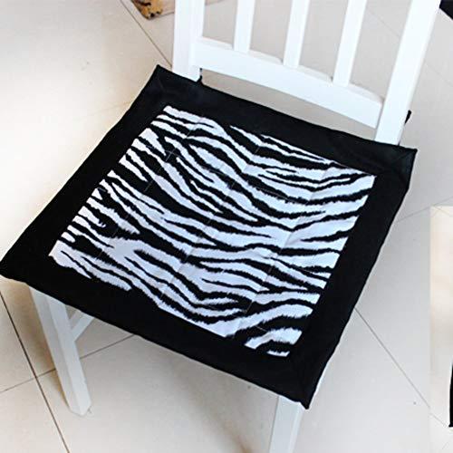 YLCJ Sitzkissen, Zebra-Muster, für Bürostuhl, Tischkissen, Dicke Computerstuhl, Studentenstuhl, 42 x 42 cm
