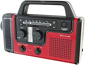WEATHERX WR383R AM/FM/Weather Radio with Flashlight, Model: WR383R, Electronic Store & More