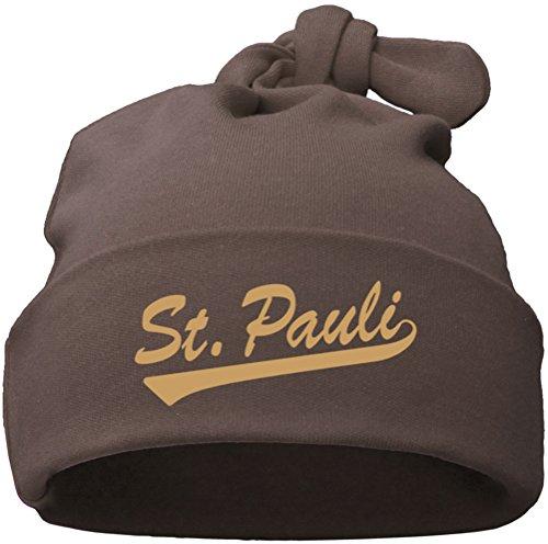 Racker-n-Roll ST. PAULI babymuts enkele knoop chocolade