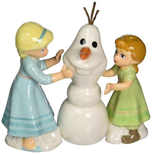 Westland Giftware Disney Frozen Do you want to Build a Snowman? Set di sale e pepe magnetico in ceramica, multicolore