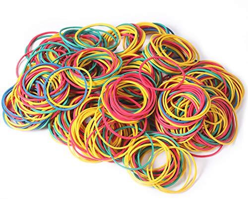 500 Stücke Bunte Gummibänder Gummiringe Große Gemischte Elastische Gummibänder Dehnbare Bänder Mülleimer Bänder für Haushalt, Arbeit, Büro