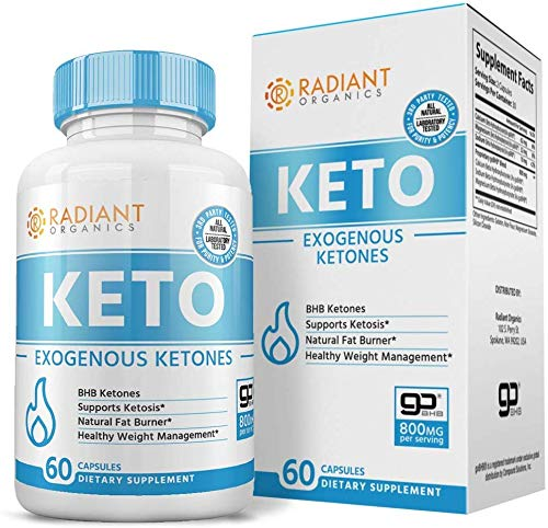 Keto Pills for Weight Loss | Best Exogenous Ketones Supplement | Appetite Suppressant for Women & Men | Reach Ketosis Fast | All Natural | 60 Count 1