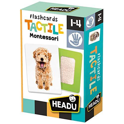 Headu - Flashcards Tactile Montessori - Gioco Educativo per Bambini da 1 a 4 Anni
