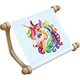 Kelendle Portable Hands-Free Wooden Lap-Stitch Frame Cross Stitch Rack Sewing Embroidery Hoop Stand