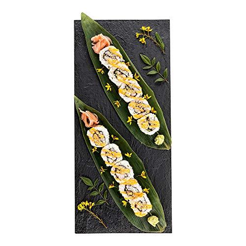 Restaurantware RWP0158B 25 Count Large Faux Slate Plate, 16' x 7', Black