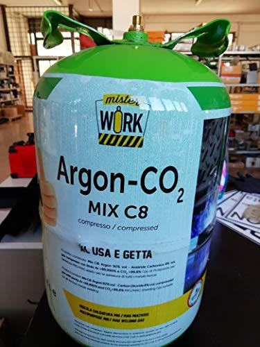 Bombona para soldar desechable XL 13,6 l mezcla Argón/Co2