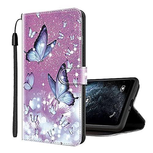 Sinyunron Klapphülle für Handy BQ Aquaris X Pro Hülle Leder Brieftasche Handytasche,Klapptasche Lederhülle Hüllen Hülle Schutzhülle Tasche Cover (Hülle-06B)