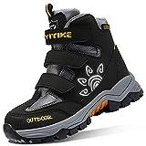 Scarpe da Escursionismo Stivali da Neve Unisex Bambino Scarpe da Trekking Outdoor per Antiscivolo e Caldo 34 EU,Nero Giallo