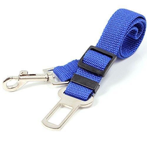 Neuftech Cintura di sicurezza guinzaglio regolabile per cane auto 65cm (Blu)