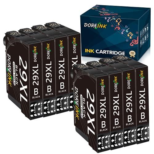 DOREINK 29XL - Cartuchos de tinta de repuesto para Epson 29 (compatibles con Epson XP-342, XP-352, XP-332, XP-445, XP-442, XP-245, XP-235, XP-452, XP-355, XP-455, XP-432, XP-345 y XP-257), color negro