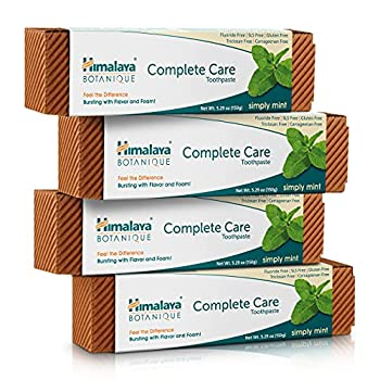 Himalaya Complete Care Toothpaste Simply Mint Plaque Reducer for Brighter Teeth and Fresh Breath 5.29 oz 4 Pack
