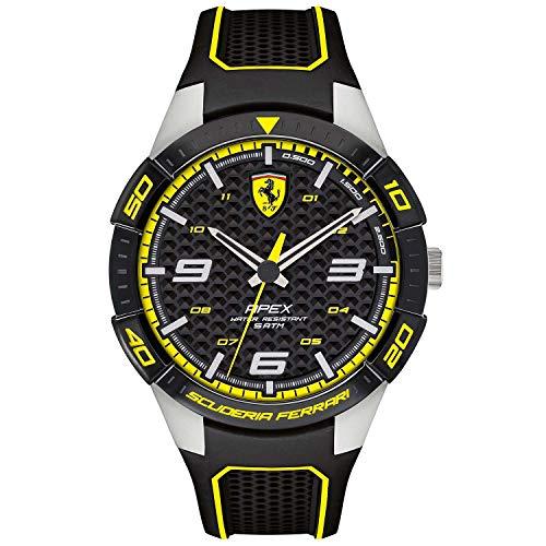 Scuderia Ferrari Herren Quarz Armbanduhr mit Silikonarmband 830631