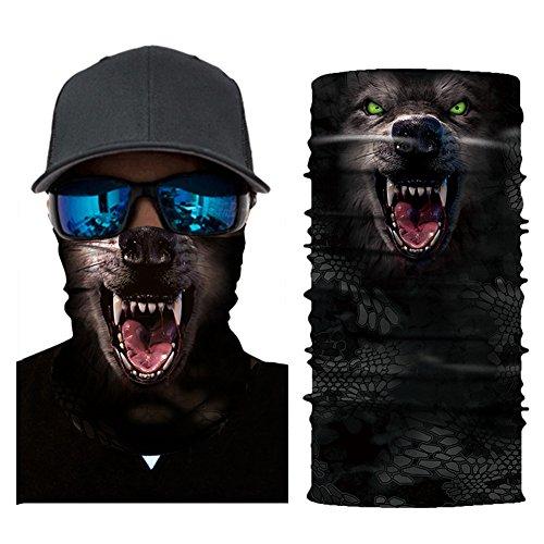 Aesy Deportes Cara Máscara, Bufanda de Ciclismo, Al Aire Libre 3D Animal Tigre Impreso Rápido Seco Quitasol Sweatband Banda para el Cabello Cabeza Bufanda (A10)