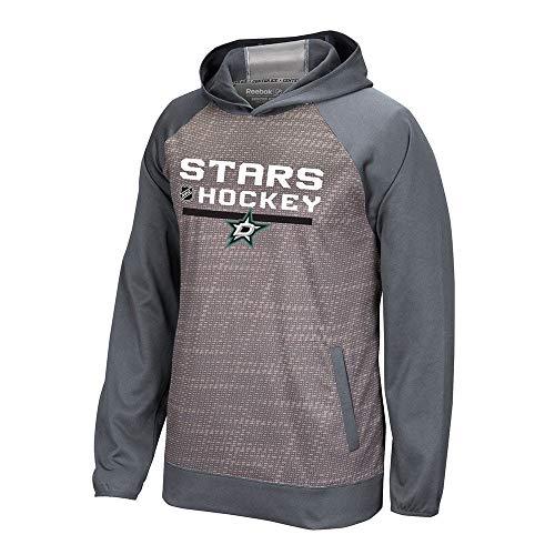 adidas Dallas Stars Reebok Center Ice TNT Authentic Locker Pullover Hoodie Men's