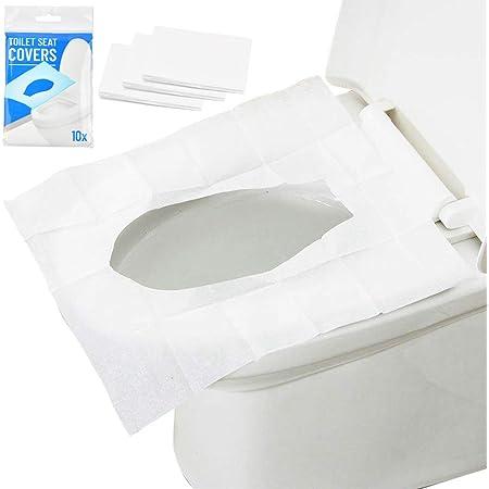 Einweg-Toilettensitzbezug Rutschfeste Wasserdicht WC-Sitz Toilettenpapier Pad f/ür Erwachsener Kinder Schwangere Frau Reisen Krankenhaus 20 St/ücke