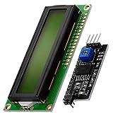 AZDelivery Modulo Pantalla LCD Display Verde HD44780 1602 con interfaz I2C 16x2 caracteres negros compatible con Arduino con E-book incluido!
