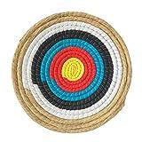 happygirr 45x45CM Zielscheibe Bogenschießziel Traditionelles Festes Bogen Strohzielscheibe Handgemachte Bogenschießen Training Zubehör für im Freienpraxis und Schießenpfeil