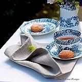 Linen & Cotton 4 x Luxus Stoffservietten Anabella, 100% Leinen – 47cm x 47cm (Natur/Grau/Beige), Ideal für Hochzeit Gastronomie Hotel Restaurant Café Küche Catering Vereinsfeier Geburtstagsfeier - 3