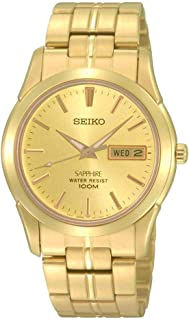 Seiko Men SGGA62P Year-Round Analog Quartz Gold Watch