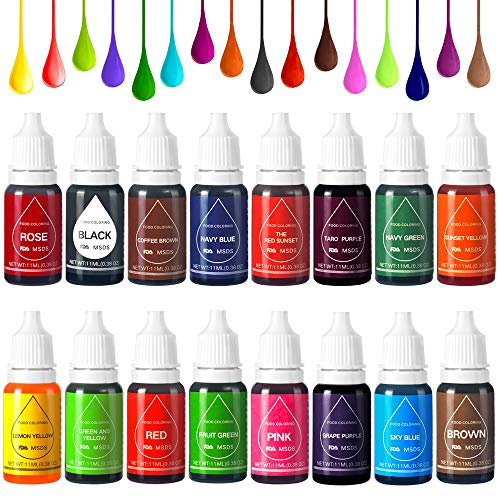 Colorante Alimentario Liquido Food Dye Coloring Set 16x11ml,