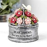 Blossom Bucket 201-12706 Dear Friend Galvanized Bucket with Flowers Figurine, 4-inch High
