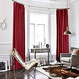 TOPICK Baumwollflanell Velvet Vorhang in Edler Samtoptik Schlafzimmer Gardine Dekoschal mit Stangendurchzug, Licht blockierend, Beige (1er-Set, 213 x 132 cm)