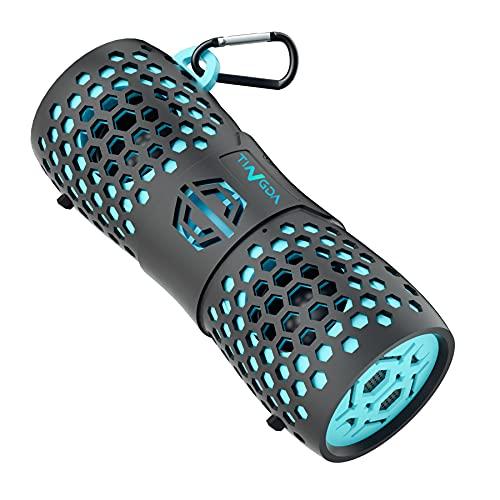 TINGDA Bluetooth Box, Tragbare Wireless Lautsprecher IPX7 Wasserfester Musikbox, 12W Lauter Stereo Sound Enhanced Bass mit Freisprechfunktion, Kabelloser Boxen für Outdoor, Dusche, Fahrrad, Smartphone