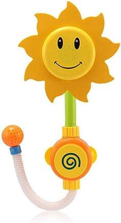 Sunflower ShowerツHead Hamkaw Baby Bath Toys Spray Water Game Bathtub Faucet Bathing Toys Infant Kids Play