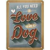 Nostalgic-Art 26221 PfotenSchild - Love Dog, Blechschild