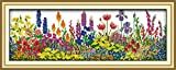 Stamped Cross Stitch Kits 14CT Pre-Printed Painting Cross Stiching DIY Art Crafts & Sewing Needlepoints Kit for Home Decor (Spring Scenery in Garden)