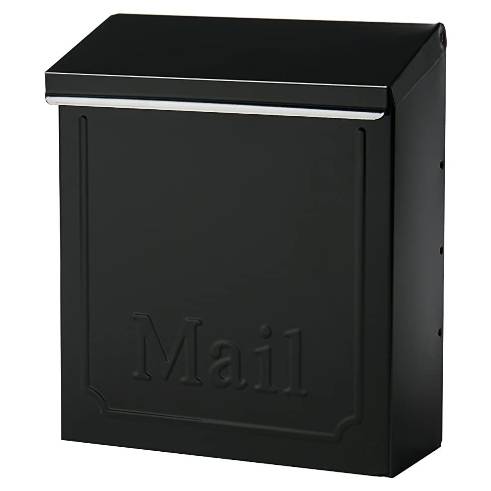 Gibraltar THVK0000 Lockable Vertical Townhouse City Mailbox, Black